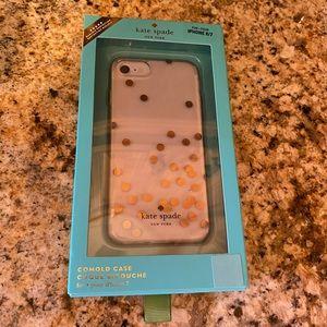 Kate Spade iPhone 7 / 8 case confetti rose gold
